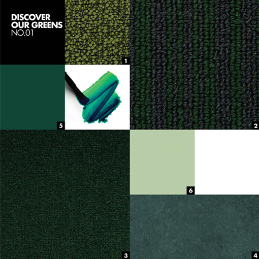 DISCOVER OUR GREENS NO.01 - Color mood palet